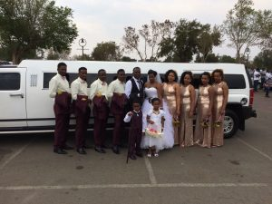 Hummer H3 limousine busy with a wedding